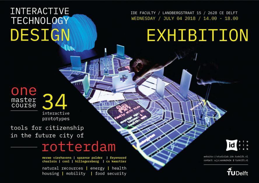 Tools for citizen ship in the future city of Rotterdam, ITD Exhibition poster 2018