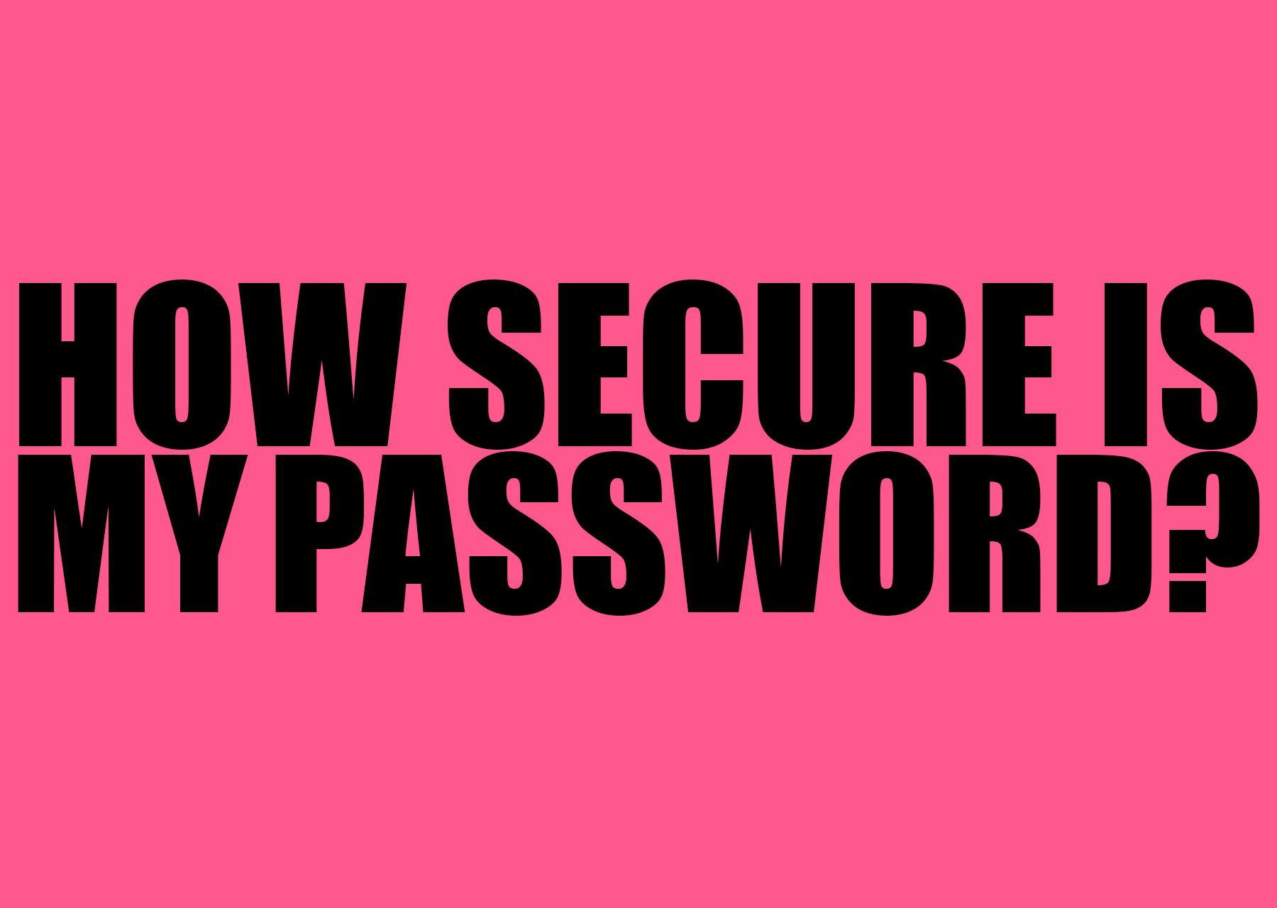How secure is my password | Brigit Varenkamp