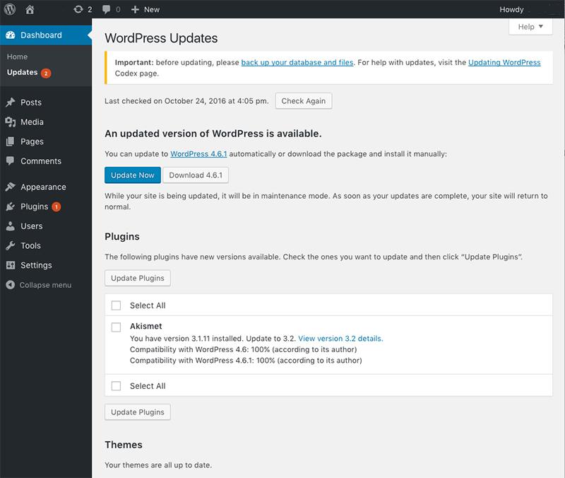 Wordpress updaten een handleiding.